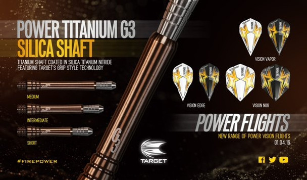 Target Phil Taylor Power Titanium Gen 3 Dart Shafts - Short