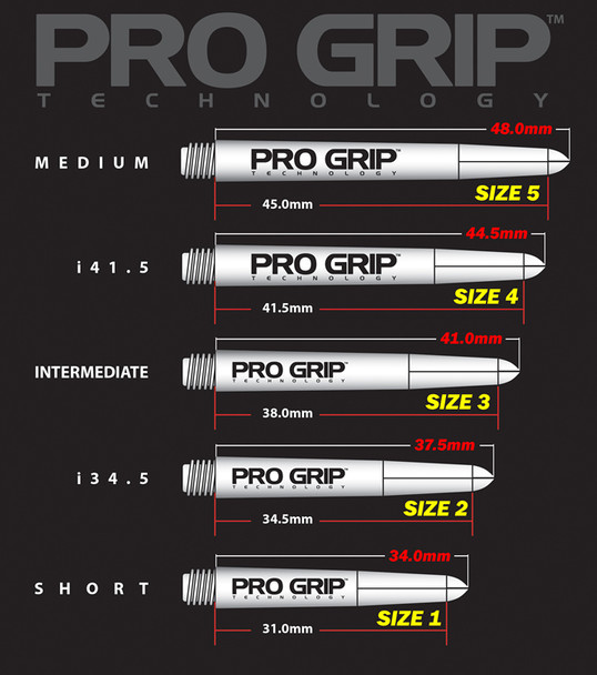 Target Pro Grip Vision Shafts - Clear Yellow Medium