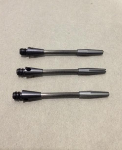 Black titanium dart shafts