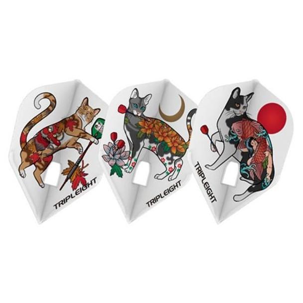 Tripleight Tattoo Keto Small Standard Champagne Flights, L3c, Tripleight, Cat, Darts