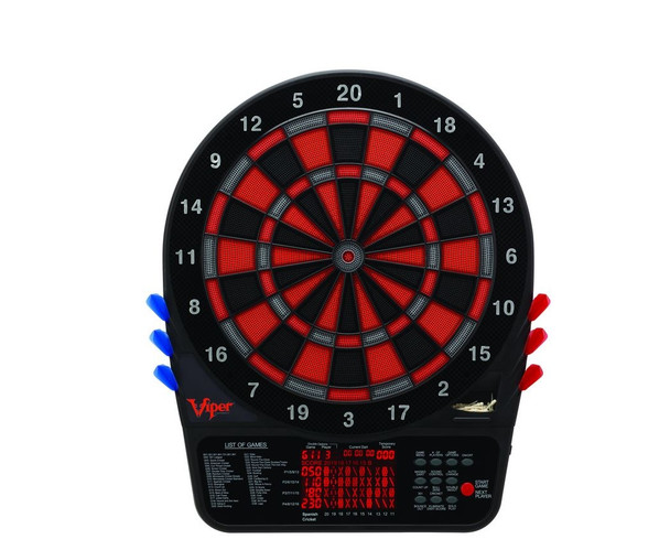 Viper 800 Electronic Dartboard in black, red and gray
