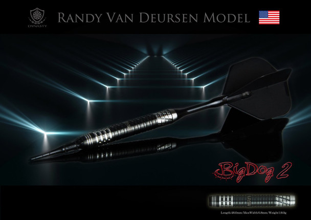 "Dynasty ""Big Dog 2"" Randy Van Deursen Soft TIp Darts"
