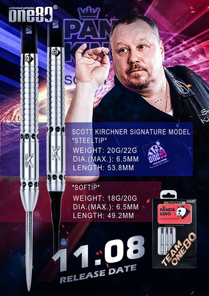 Scotty Kirchner One80 18gm Soft Tip Darts