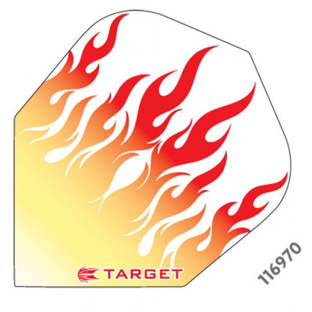 Target Pro 100 No 6 Shape Flights - Yellow, Orange and red flames