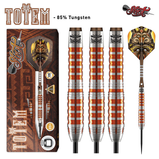 Shot Totem  3 Series Steel Tip Darts - 27g