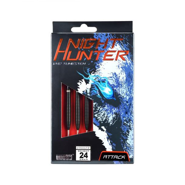 ONE80 Night Hunter ATTACK Steel Tip Darts - 24g