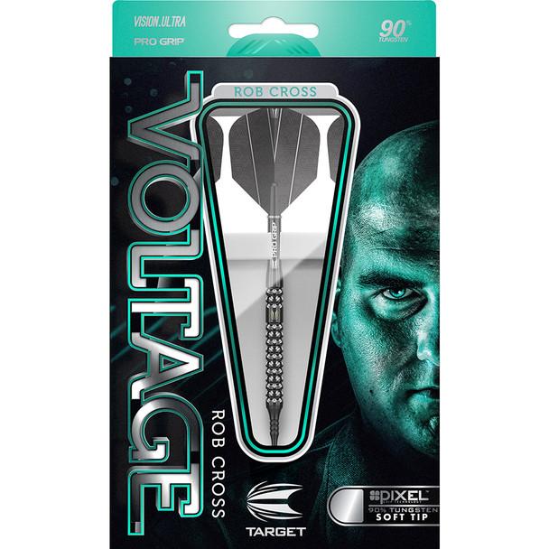 Target Rob Cross Voltage BLACK PIXEL Steel Tip Darts - 23g