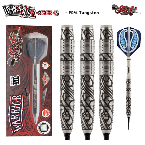 Shot Warrior 3 Series Soft Tip Darts - 18g