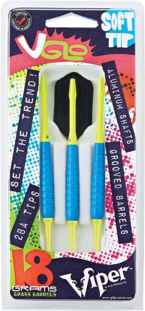 Viper V Glo Soft Tip Darts, Blue, 18g 20-4301-18