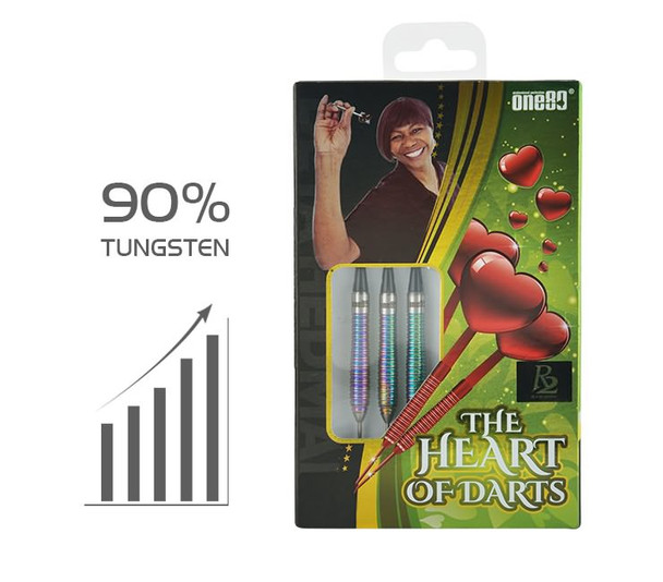 "ONE80 R2 Deta Hedman ""The Heart Of Darts""  Steel Tip Darts - 24g"