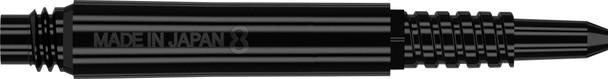 Target 8 Flight Locked Shaft  Short +  Black (22.5mm)