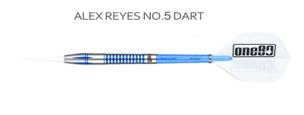 ONE80 Professional Perfection Alex Reyes 2ba Soft Tip Darts - 18g blue