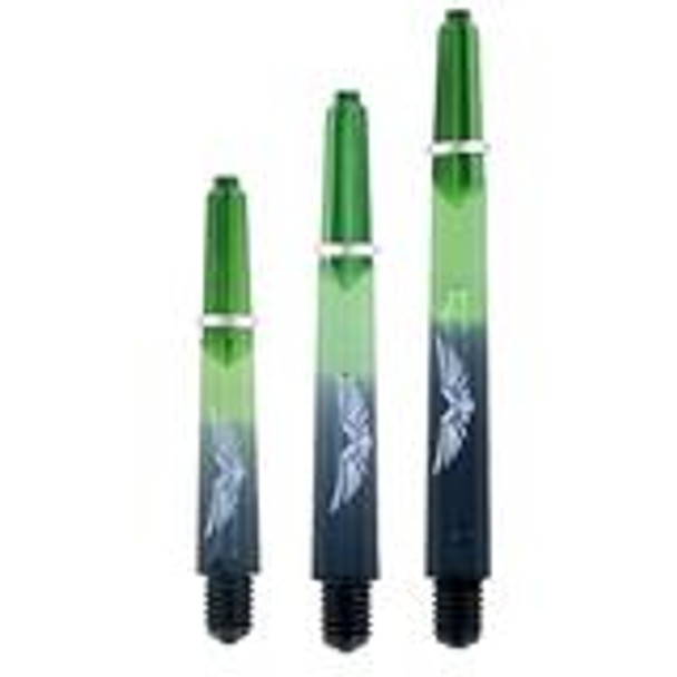 Eagle Claw Dart Shafts (Inbetween) - Green/Black