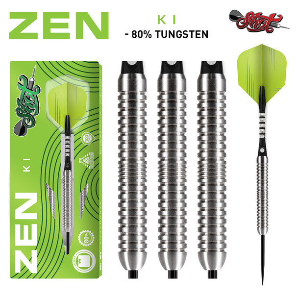Shot Zen KI Steel Tip Dart Set-80% -26gm