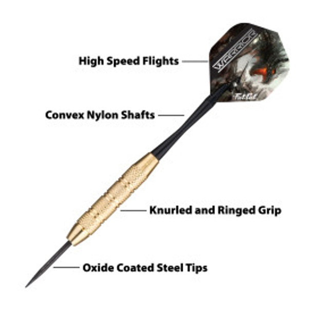Fat Cat WARRIOR Brass Steel Tip Darts - 18g