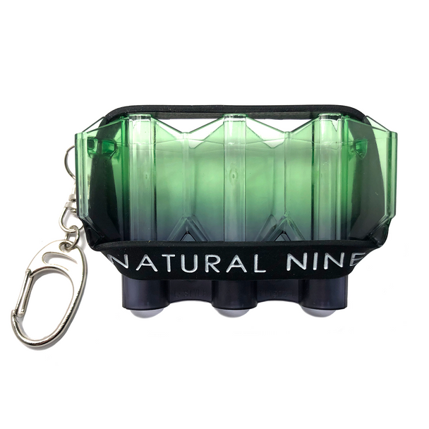 L-Style Krystal Flight Case  Natural Nine Ideal Green