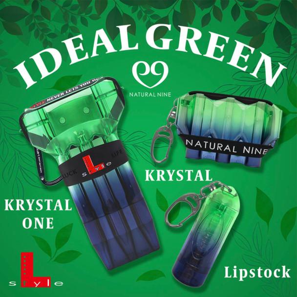 L-Style Lipstock Tip & Shaft Case Natural Nine Ideal Green