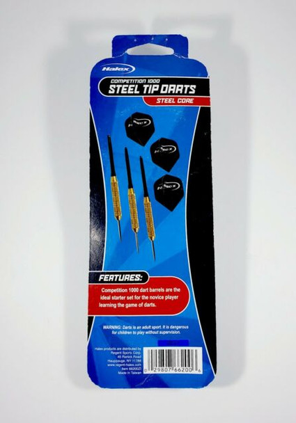 Halex - Competition 1000 Steel Tip Darts - Nickel 17g