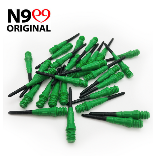 L-Style Premium Natural 9 Lippoints -Green on Black