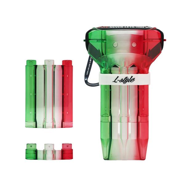 L-Style Krystal One Dart Case Natural Nine Tri Color Suika