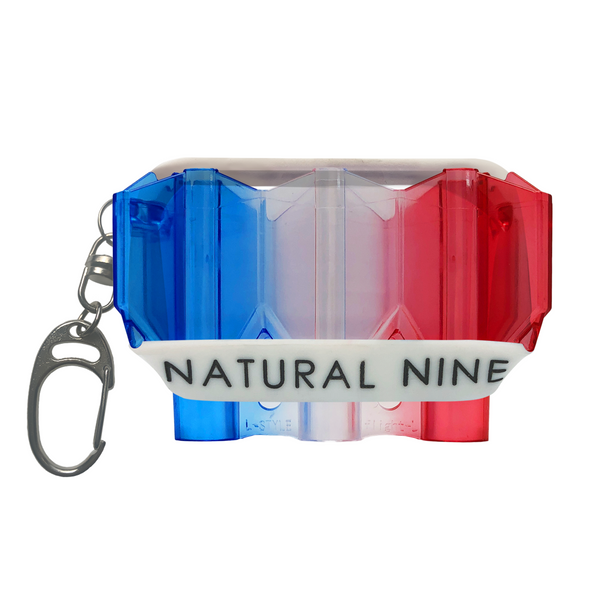L-Style Krystal Flight Case  Natural Nine Tri Color Mondrian