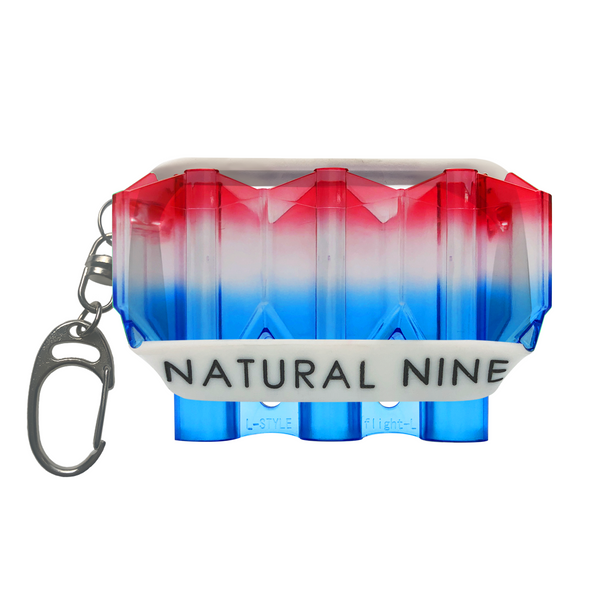 L-Style Krystal Flight Case  Natural Nine Tri Color Blue Hawaii