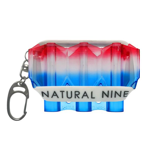 L-Style Krystal Flight Case  Natural Nine Tri Color Blue Hawaii