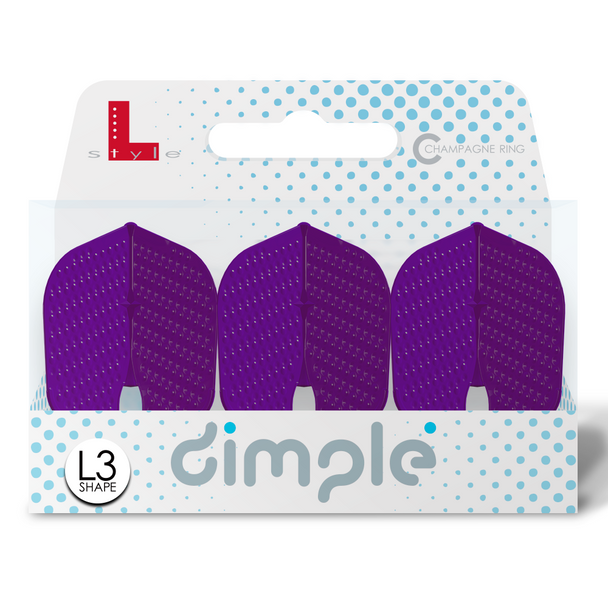 L-Style  L3d Dimpled Champagne Flights -NEW COLOR  Deep Purple