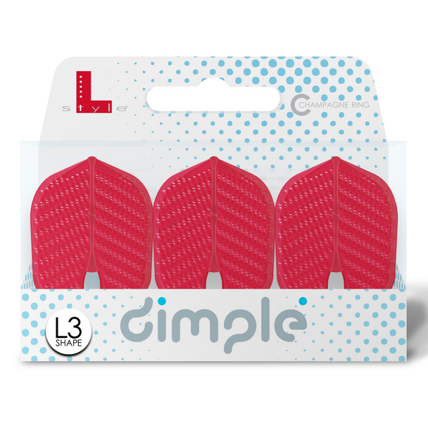 L-Style  L3d Dimpled Champagne Flights -NEW COLOR Red