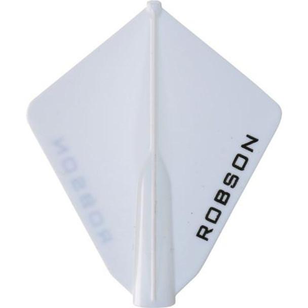 Robson Plus Dart Flights Astra White
