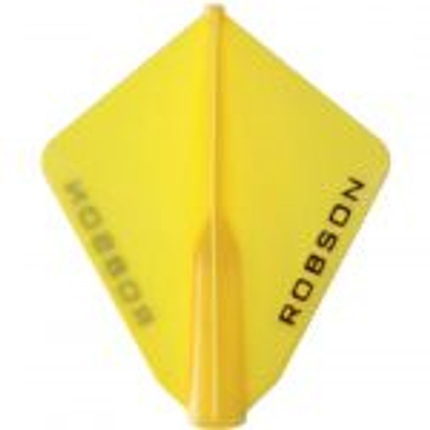 Robson Plus Dart Flights Astra Yellow