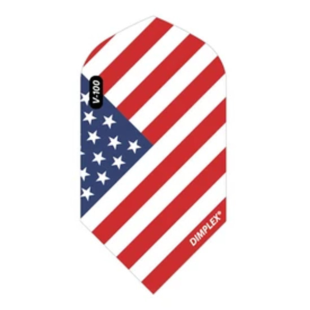 Viper Dimplex Dart Flights Slim American Flag Angled