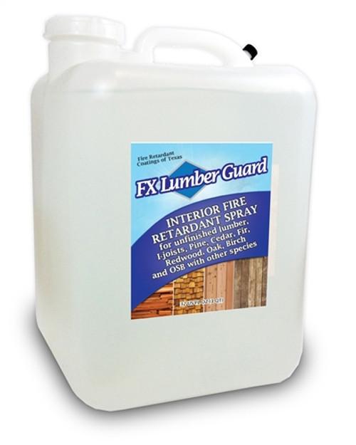 FX Lumber Guard retardant for Interior Wood - 5 gallon