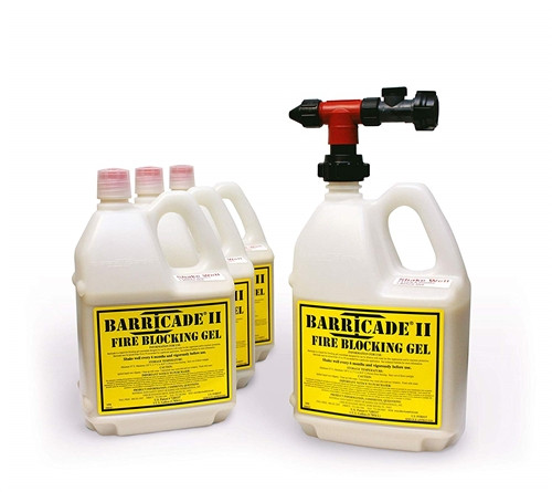 Barricade Fire Gel for home fire defense- 4 container and nozzle