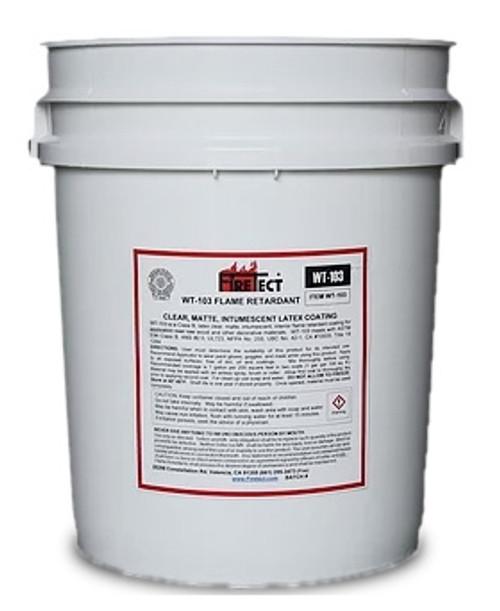 WT-103 Clear Coat Fire Retardant - 5 gallon