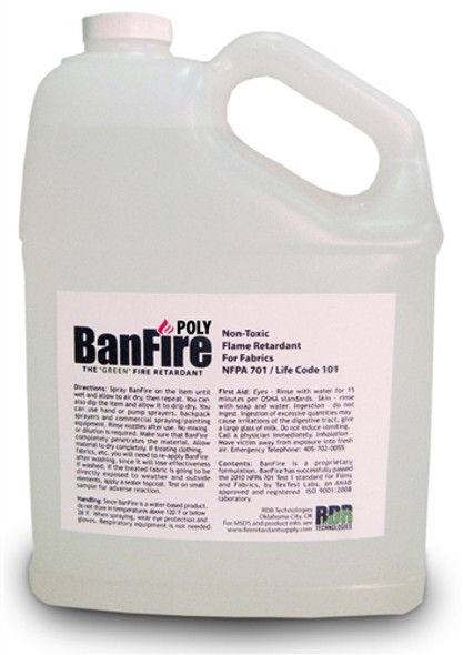BanFire Poly Fire Retardant Spray for Sheer & Specialty Fabric - 1 Gallon