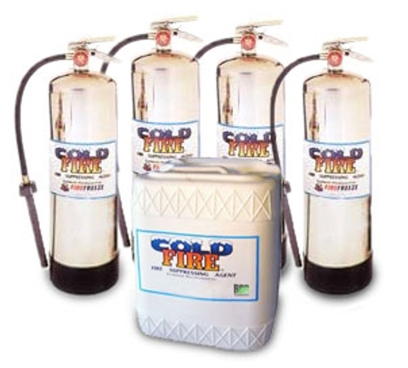 Cold Fire Raceway Special - 4 extinguishers, 5 gallons Cold Fire