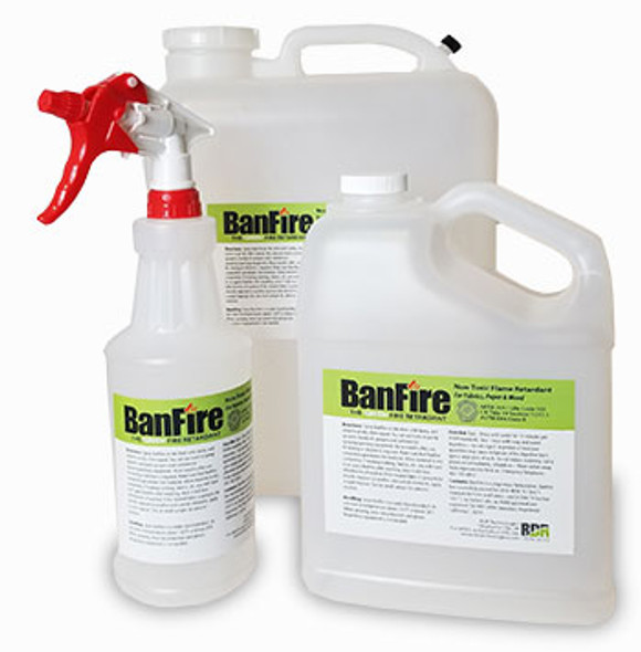 BanFire Fire Retardant Spray for Fabric (NFPA 701 & CalFire)