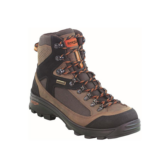 """""""Twenty years of testing, modifying boots and listening to our customers led us to create a light hiker that feels agile, protective and handles like a dream. We started with our tough Mountain Boot last atop the light and grippy Grapon™ outsole, and added K-straps tying the base of the heel to the seven inch, double and triple stitched, padded upper, securing you in for the ride. Meet the Corrie 3.2 Hiker - complete comfort and control wherever you go.  3.2 lbs.  Made in Romania""""."""