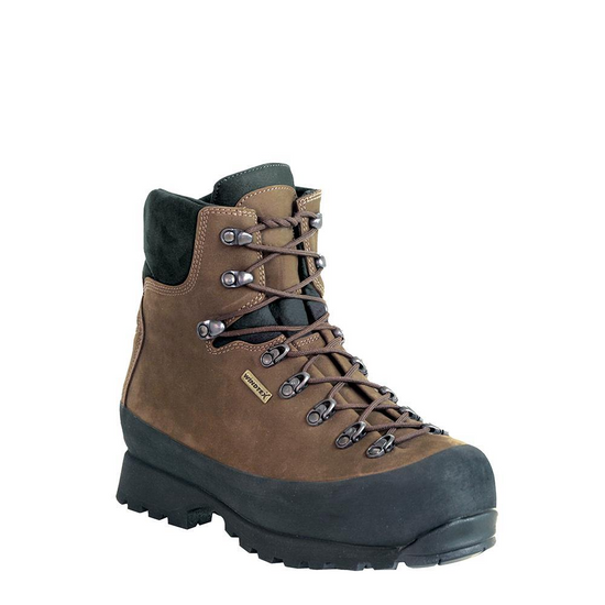 """""""Whether you're working out in the woods, in a factory, on a construction site or handling industrial materials, our safety toe boots will stand up to a beating and keep you comfortable all day long. We design and build our ASTM approved boots with the same attention to detail we give all our mountain boots. Made in Italy. 3.8 lbs""""."""