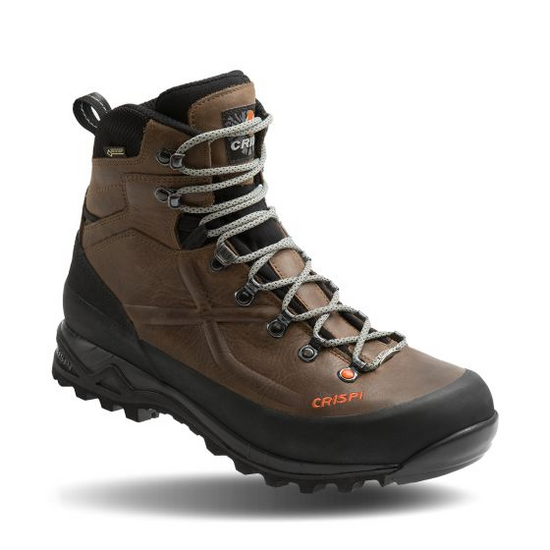 """""""The Valdres GTX is a lightweight, non-insulated leather boot that is solid and reliable. It sets a new standard for its light weight and performance. The proprietary SuperGrip Vibram outsole grips well to any form of rock, clay, mud or dirt and is designed to stay free of mud and debris.   Like all of Crispi's products, the Valdres GTX is 100% waterproof with a Gore-Tex® membrane. This boot sets a new standard for breathability in a leather boot and is perfect for those hunting, scouting, hiking or shed hunting in warmer climates or early season""""."""