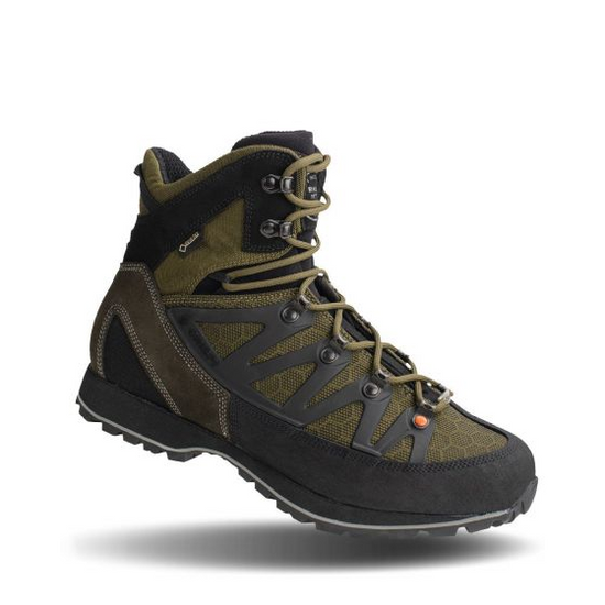 The Thor II GTX was designed exclusively for the North American Market and was tested in the rugged mountains of the West. This boot has a minimalistic feel but is capable of conquering any mountain. The Thor II GTX is the perfect option for those looking for an early season, ultra lightweight boot with a stiffer flex, worthy of climbing any grade of terrain. The exclusive Crispi sole is designed to handle any type of grade thrown at it. The new Thor ll utilizes an upper material called PUtek which is a cordura material woven with threads of Polyurathane. This allows the boots to remain lightweight and breathable while drastically increasing its durability.   The Thor II GTX is a non-insulated, super-breathable boot but is still waterproof thanks to the Gore-Tex® lining.