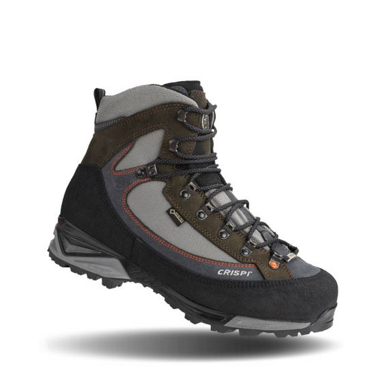 Named after the state where success is usually found in the high country around 13,000 feet, the Crispi Colorado GTX is built to get your there, help you succeed, and get you home with a heavy pack.   The Colorado upper is made out of water-repellent suede, high-resistance fabric and is lined with Gor-Tex performance lining to ensure maximum waterproof action. Optimum ankle support for side hilling and heavy pack outs is provided with the added Ankle Bone Support System (ABSS). A polyurethane coated leather rand is triple stitched around the base of the boot to protect the foot from external impacts. The boot is rounded off with a duel density polyurethane Vibram sole which provides comfort in high impact areas as well as grip in the nastiest of conditions