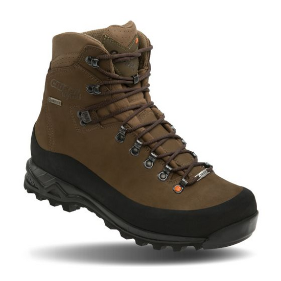 """""""The story of the Nevada GTX goes back over 40 years ago when Alessandro Marcolin started hand-constructing Crispi boots. The Nevada has been a staple in Crispi's lineup ever since. Add the latest cutting-edge technology in footwear with the handcrafted precision and comfort we are known for and you get the hands-down best hunting boot on the planet. No wonder why the Nevada has withstood the test of time and continues to conquer every mountain it faces.  Brought in by popular demand for 2017, the Nevada GTX is now offered in a non-insulated version""""."""
