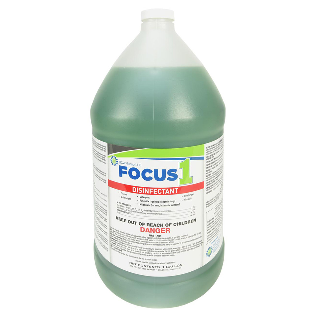 Focus 1 Disinfectant  Concentrate - 4 Gallons per Case
