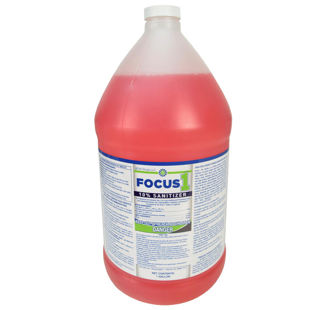 Focus 1 Sanitizer Concentrate - 4 Gallons per Case
