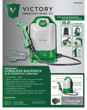 Electrostatic Commercial Backpack 16.8V Sprayer by Victory Innovations 2.25 gal.