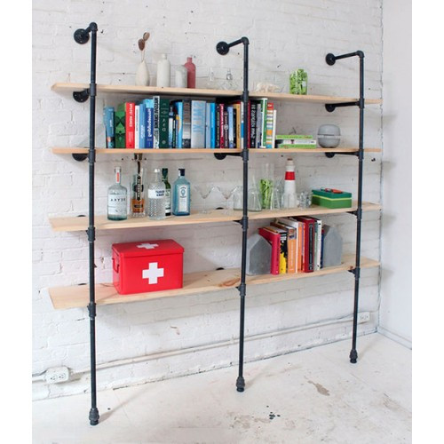 Modern Pipe Shelves