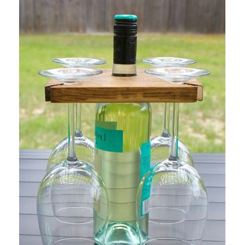 Wine Bottle & Glasses Carrier