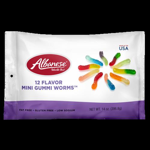 12 Flavor Mini Gummi Worms™ - 14 oz Shareable Bag